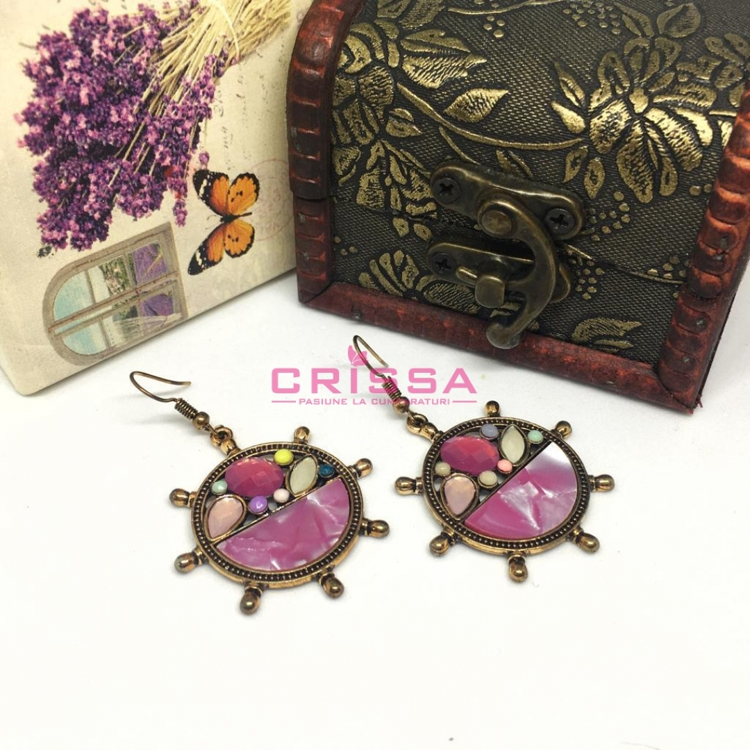 Cercei colorati Fashion Jewelry
