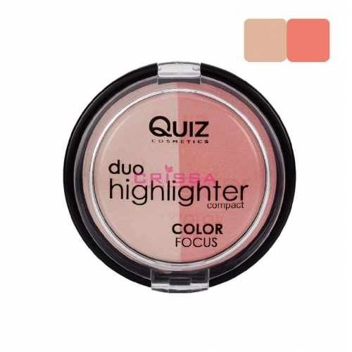 Fard Obraz & Pudra Iluminatoare Duo Highlighter Color Focus Quiz