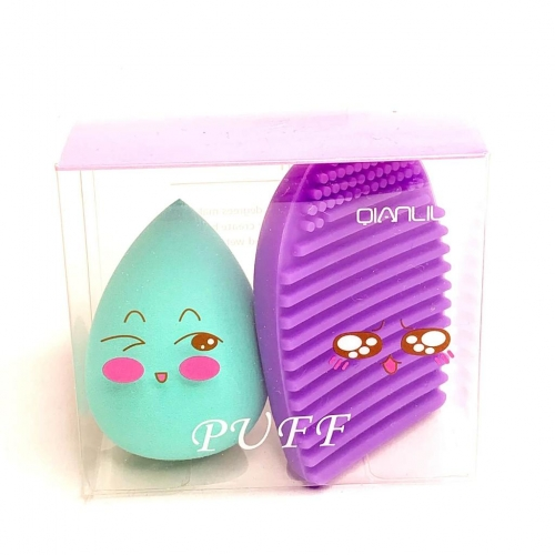 Set beauty blender si suport curatare silicon