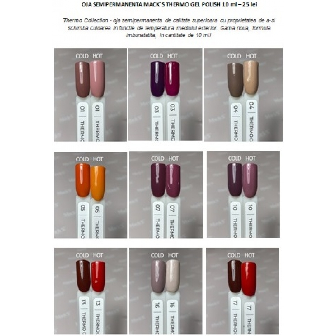 Thermo Gel Polish Mack`s Professional